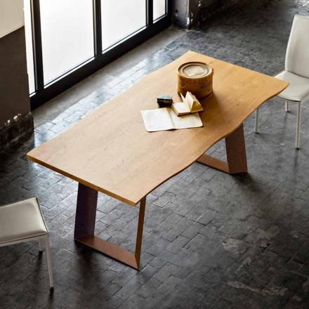 Jídelní stůl moderní design 100x200 cm do dřeva a kovu Plant