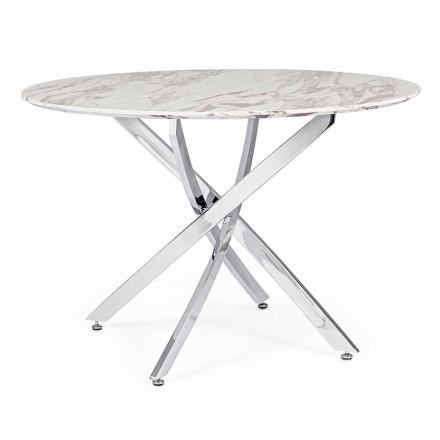 Designový jídelní stůl s kulatou deskou v MDF Homemotion - Gregory