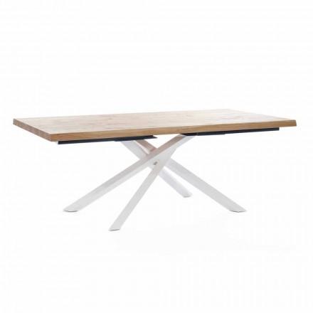 Designový jídelní stůl ze dřeva a kovu vyrobený v Itálii - kapitán
