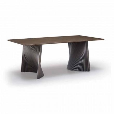 Vysoce kvalitní jídelní stůl v Gresu a Ash vyrobený v Itálii - Charol