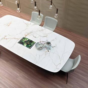 Bronzový keramický a kovový jídelní stůl vyrobený v Itálii - Art