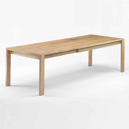 Roztažitelný dřevěný jídelní stůl až 340 cm vyrobený v Itálii - Willow
