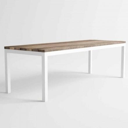 Moderní design venkovní dřevěný a hliníkový jídelní stůl - gangy