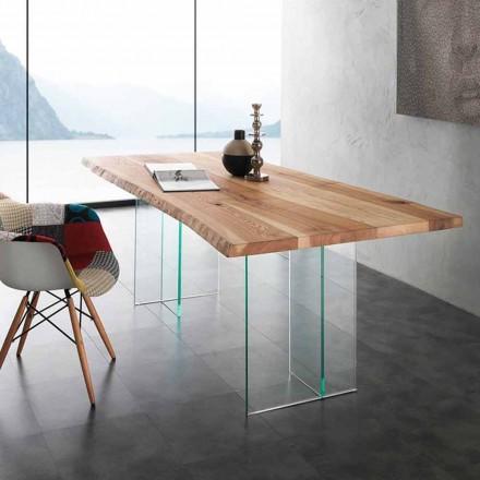 masivu jídelní stůl a sklo Marlon