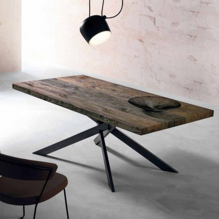Moderní jídelní stůl z masivního dřeva vyrobený v Itálii Oncino