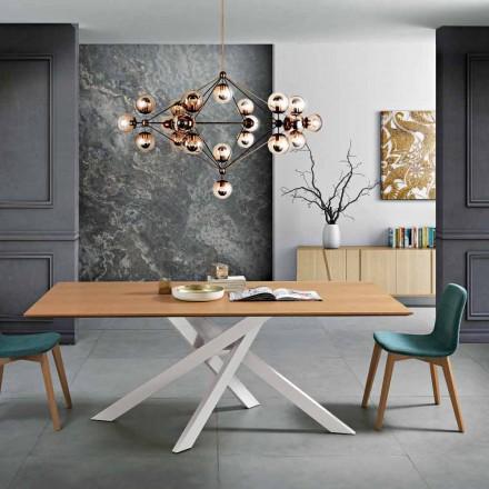 Moderní jídelní stůl z MDF dřeva a kovu vyrobený v Itálii, Dionigi