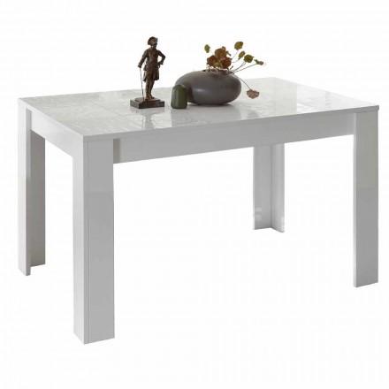Jídelní stůl z melaminu výsuvný až 185 cm vyrobený v Itálii - Aneta