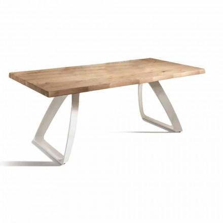 Jídelní stůl z kovu a dýhovaného dubu Made in Italy - Aryssa