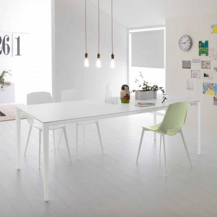 Moderní výsuvný stůl pro jídelnu, hliníková konstrukce - Bolsena
