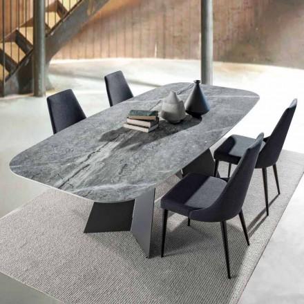 Moderní jídelní stůl s porcelánovým kameninovým topem - Meduno