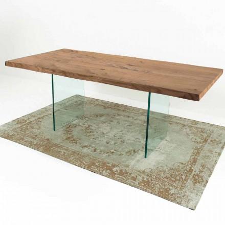 Moderní jídelní stůl v benátském dřevě a skle Vyrobeno v Itálii - Strappo