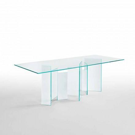 Moderní jídelní stůl v extrémním světle nebo uzené sklo vyrobené v Itálii - náhodné