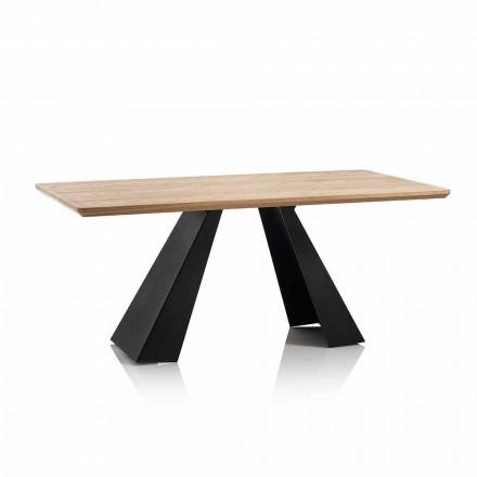 Moderní obdélníkový jídelní stůl s deskou v barvě dubové barvy Mdf - Volo
