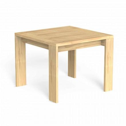 Čtvercový designový jídelní stůl z ušlechtilého dřeva - Argo od Talenti
