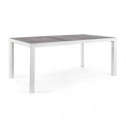 Venkovní jídelní stůl s keramickou deskou a hliníkovou základnou - Jen