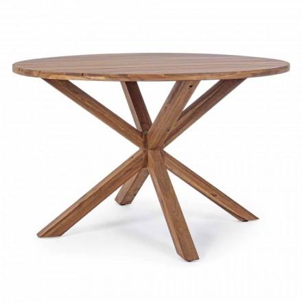 Venkovní jídelní stůl s kulatým topem z akátového dřeva - Perry