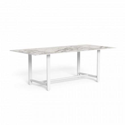 Venkovní jídelní stůl s Gresovou deskou, vysoce kvalitní - Riviera od Talenti