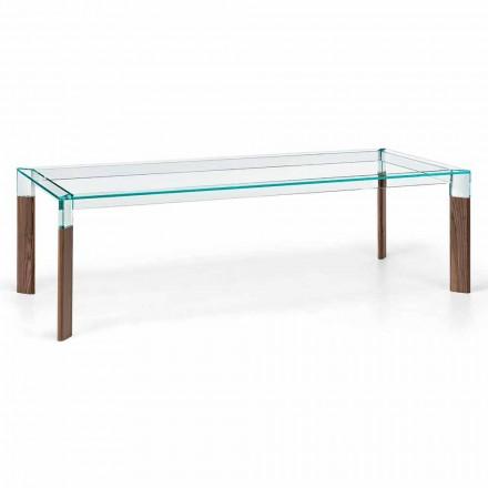 Jídelní stůl a základna z masivního dřeva Vyrobeno v Itálii - Presino