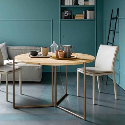 Moderní skládací jídelní stůl ze dřeva a kovu vyrobený v Itálii - Menelao