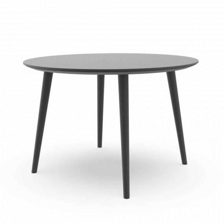 Kulatý zahradní jídelní stůl z bílého nebo uhlíkového hliníku - Sofy Talenti