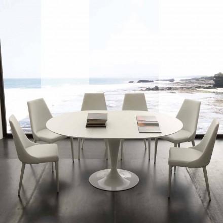 Topeka rozkládací kulatý jídelní stůl až do 170 cm, moderní design