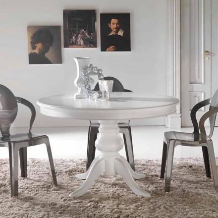 Klasický kulatý jídelní stůl z masivního dřeva Oliva