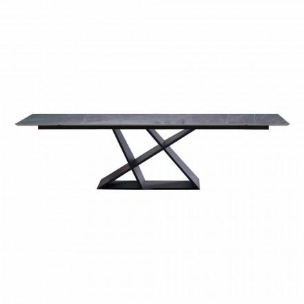 Luxusní výsuvný stůl do 294 cm s kameninovou deskou vyrobené v Itálii - Cirio