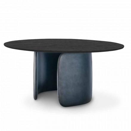 Designový stůl s kulatou deskou z masivního dřeva vyrobený v Itálii - Mellow Bonaldo