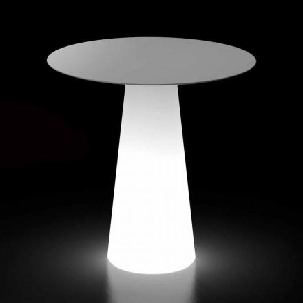 Venkovní designový stůl s LED světelnou základnou vyrobený v Itálii - Forlina