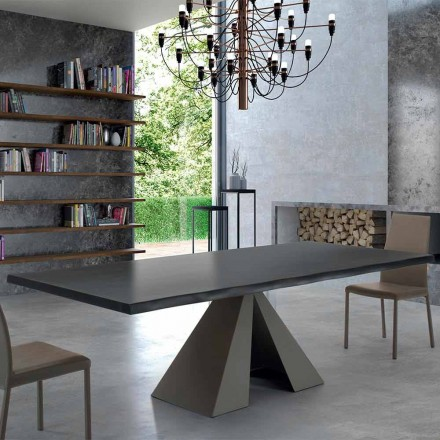 Tabulka designu ze dřeva a oceli Venereed Made in Italy - Dalmata