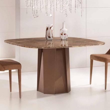 Designový stůl v Emperador Dark Marble 130x130 cm, Vyrobeno v Itálii - Nuvolento