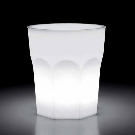 Světlý designový venkovní stůl z polyethylenu a HPL vyrobený v Itálii - Pucca