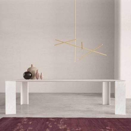 Designový stůl v Namibii White Marble Vyrobeno v Itálii, 210x110 cm - Monastero
