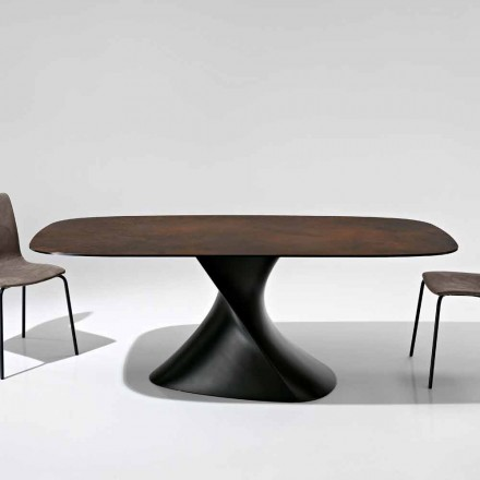 Moderní designový stůl ve sklokeramice vyrobený v Itálii, Clark