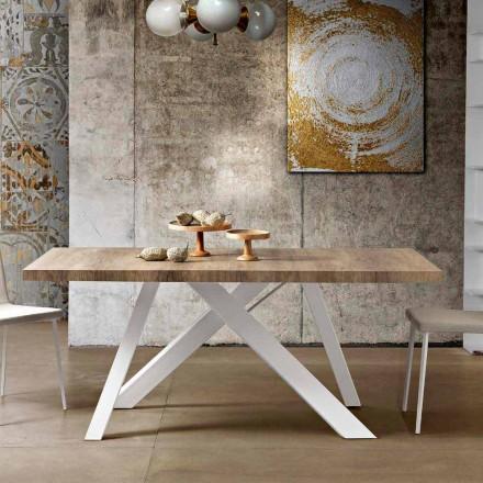 Moderní rozšiřitelný stůl z melaminového dřeva vyrobeného v Itálii, Wilmer