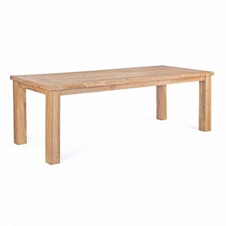 Zahradní stůl v designu Teak Wood, Homemotion 8 míst - Hunter
