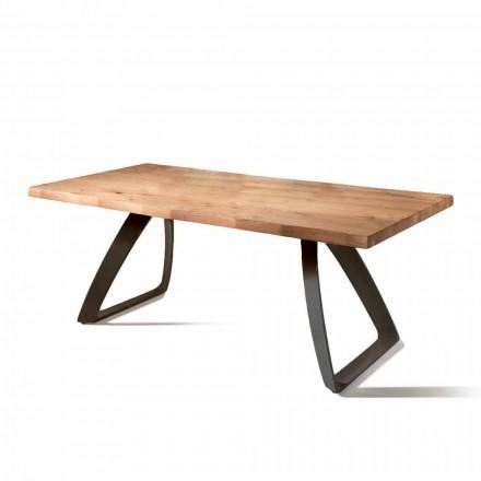 Pevná dýhované dubový stůl a obecných kovů Logan