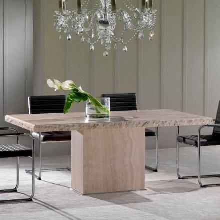 Jídelní stůl z travertinového kamene, moderní design, Narciso