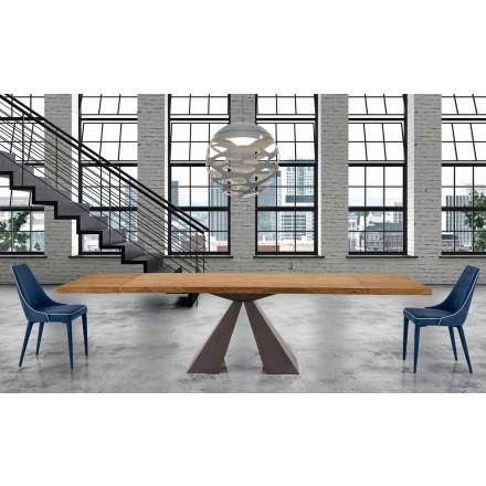Moderní výsuvný dřevěný stůl do 300 cm - Dalmata