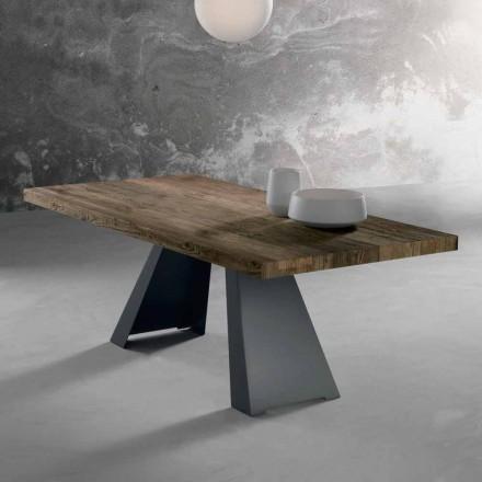 Designový stůl z masivního dřeva vyrobený v Itálii Zerba