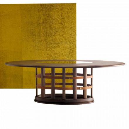 Grilli Harris moderní eliptický stůl z masivního dřeva vyrobený v Itálii