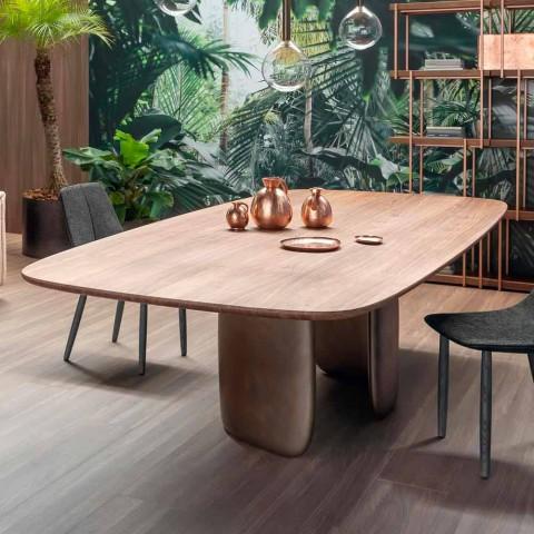 Moderní stůl z masivního dřeva vyrobený v Itálii - Bonaldo Mellow