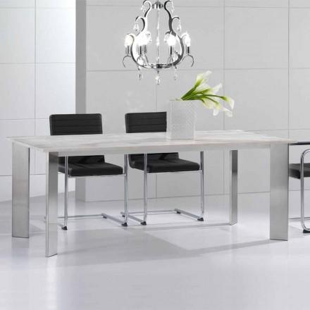 Jídelní stůl z travertinového kamene, moderní design, Pompilio