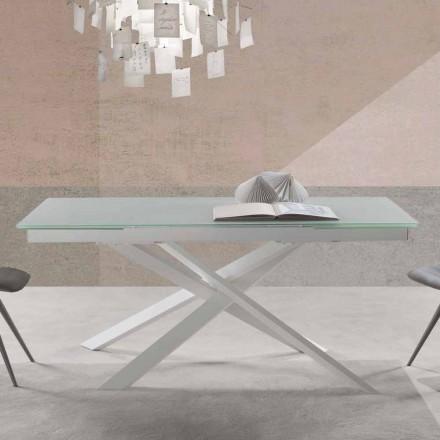 Moderní design rozšiřitelný stůl ve skle - Marliana