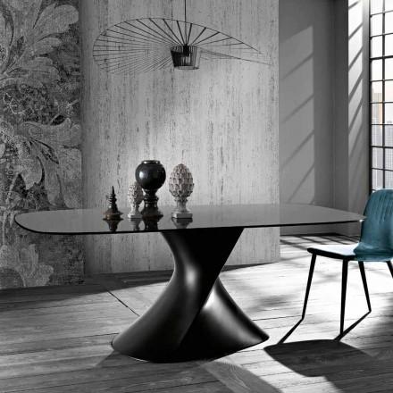 Moderní designový stůl z tvrzeného skla vyrobeného v Itálii, Clark