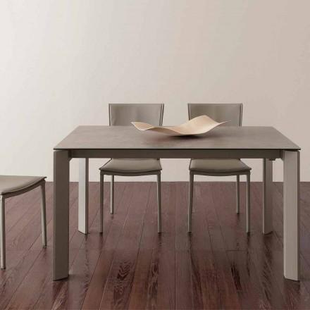Skládací skleněný keramický stůl Terni do 240 cm