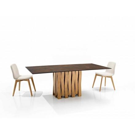 Moderní designový stůl ve sklokeramice vyrobený v Itálii, Egisto