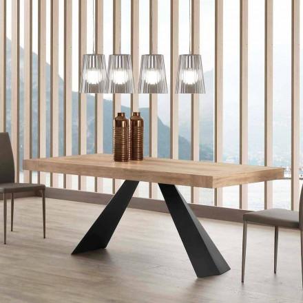 Moderní výsuvný stůl do 260/280 cm ze dřeva a kovu - Teramo