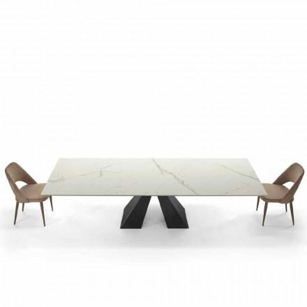 Moderní výsuvný stůl do 300 cm v mramoru Made in Italy - Dalmata