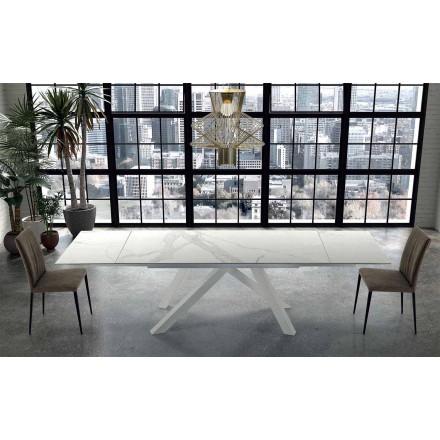 Moderní výsuvný stůl do 300 cm v mramoru Made in Italy - Settimmio